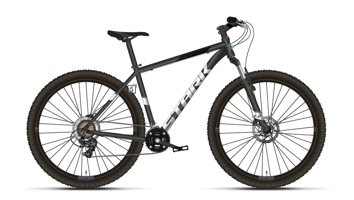 Велосипед Stark'21 Hunter 27.2 D черный/серебристый 16