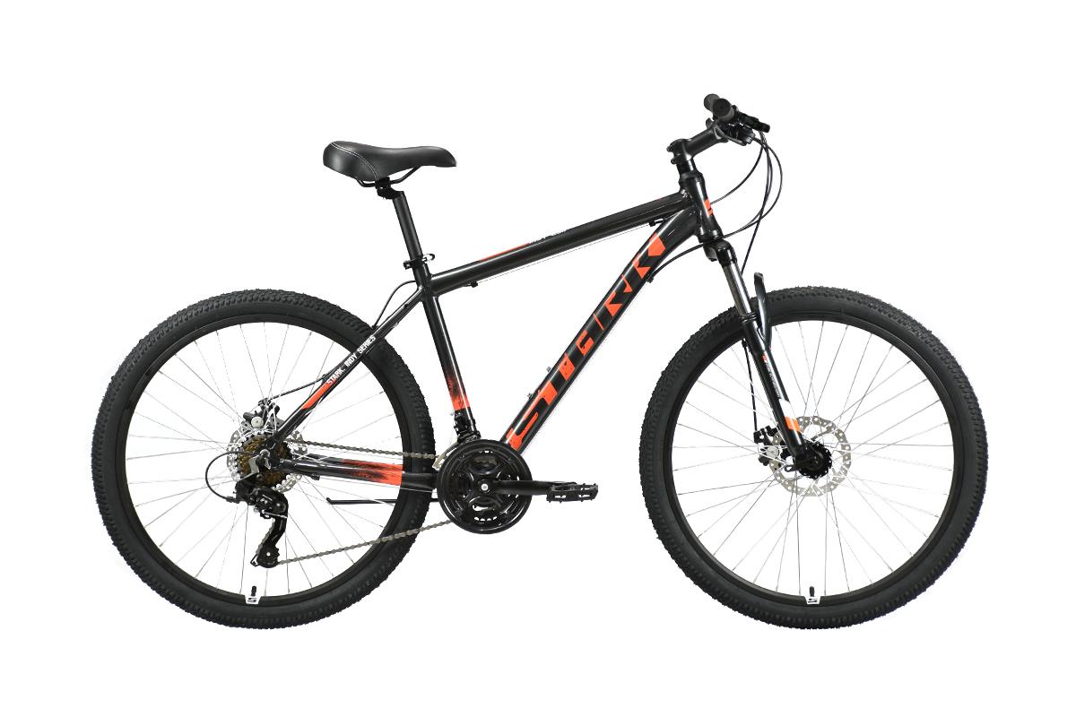 Велосипед Stark'21 Indy 26.1 D Shimano черный/оранжевый 16
