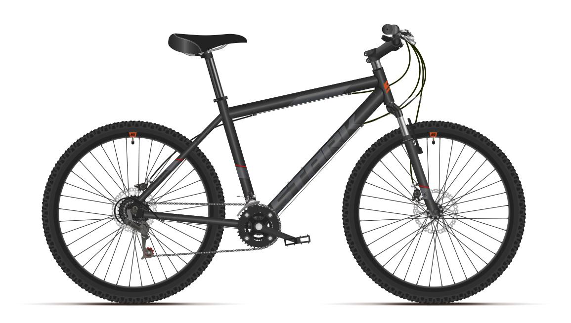 Велосипед Stark'21 Respect 26.1 D Microshift черный/серый 16