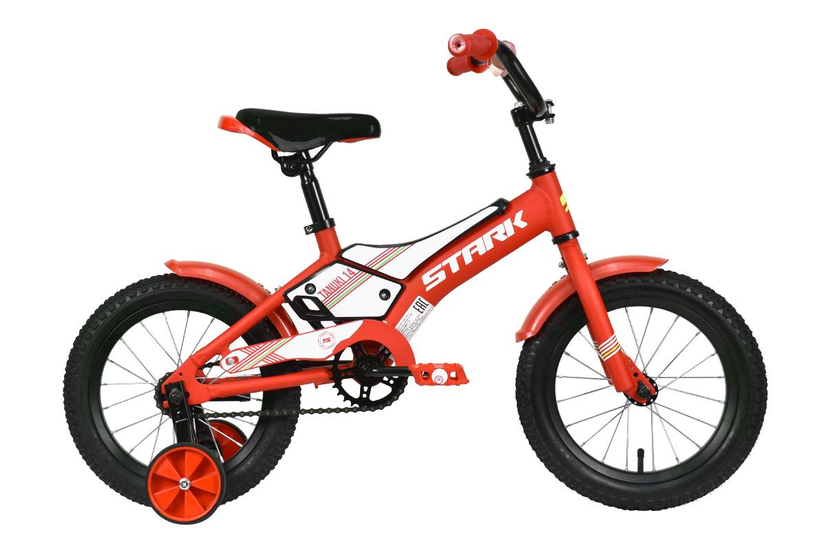 Велосипед Stark'21 Tanuki 14 Boy красный/белый