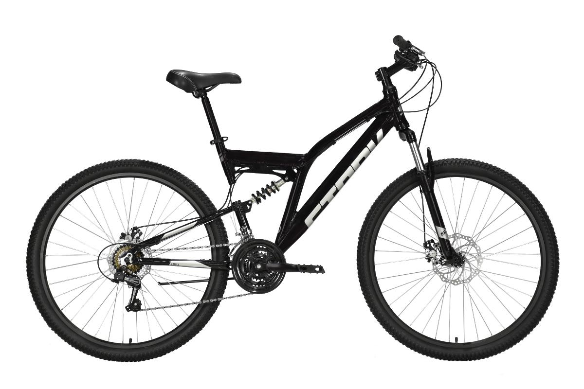 Велосипед Stark'21 Jumper 27.1 FS D чёрный/серебристый 16