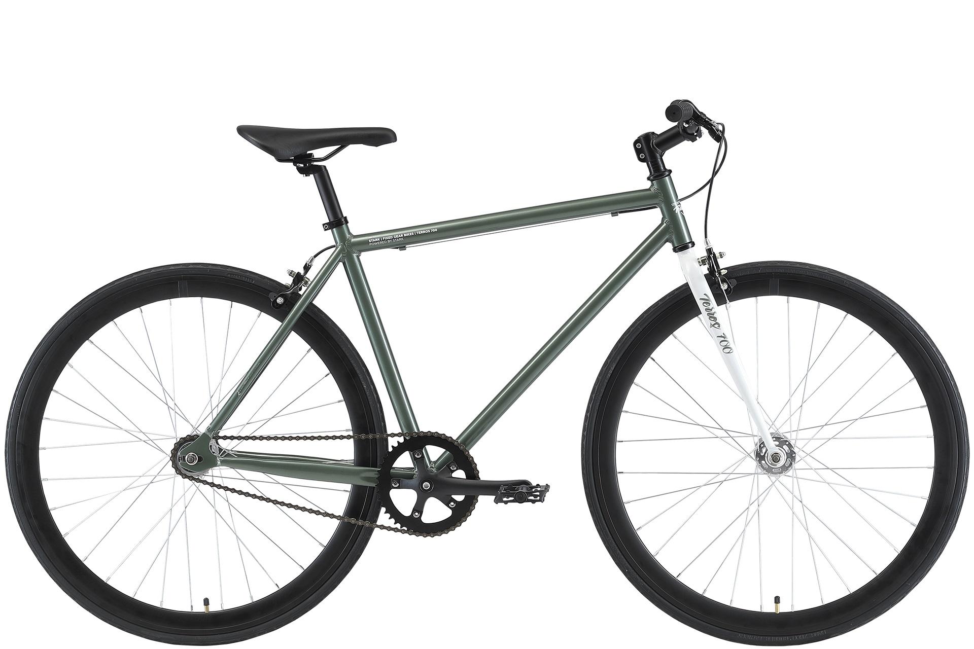 Велосипед Stark'21 Terros 700 S зеленый/белый 18